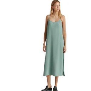 Eileen Fisher green maxi dress XL